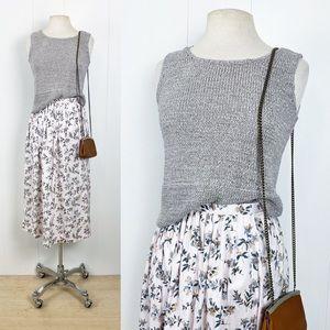 Light Grey Iridescent Knit Tank Top   Vintage